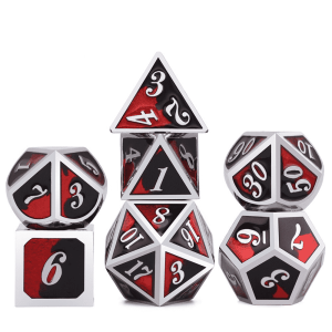 Metal Dice - Sinister Red