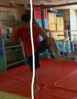 【田村潔司】キックボクシング・総合格闘技 ローキック(外側)のカット(防御)のやり方