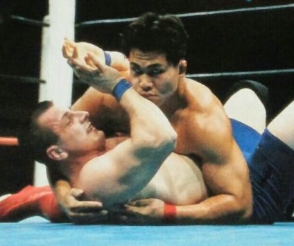 第60戦目(リングス5 戦目)  メガバトルトーナメント一回戦田村潔司vsイリューヒン・ミーシャ 1996年10月25日 東京ベイNKホール