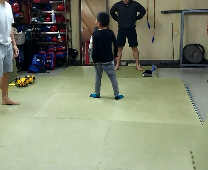 8月12日「長男」と「格闘技ジムユーファイルキャンプ」へ