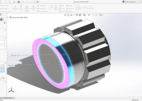 3D CAD Maskintegning 1