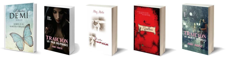 portadas de varios Libros de Mary Martín