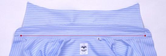 手持ちのシャツから首回りを測る方法
