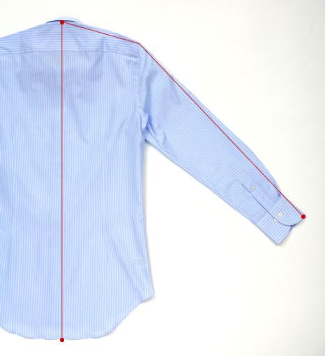 ワイシャツの裄丈と着丈の測り方