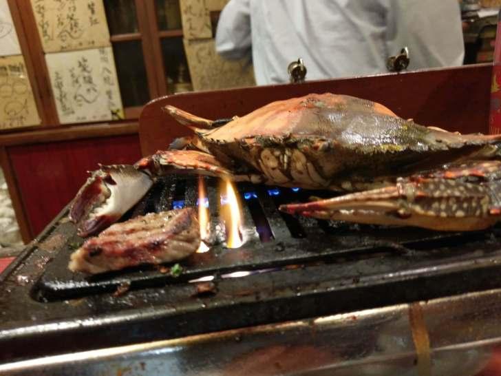 東鳴子温泉、焼肉八兆の名物海鮮焼き「かに」