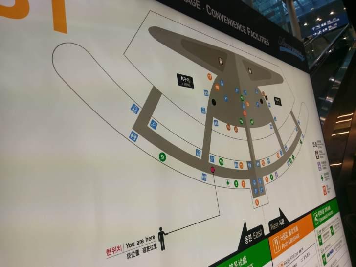 仁川国際空港見取り図