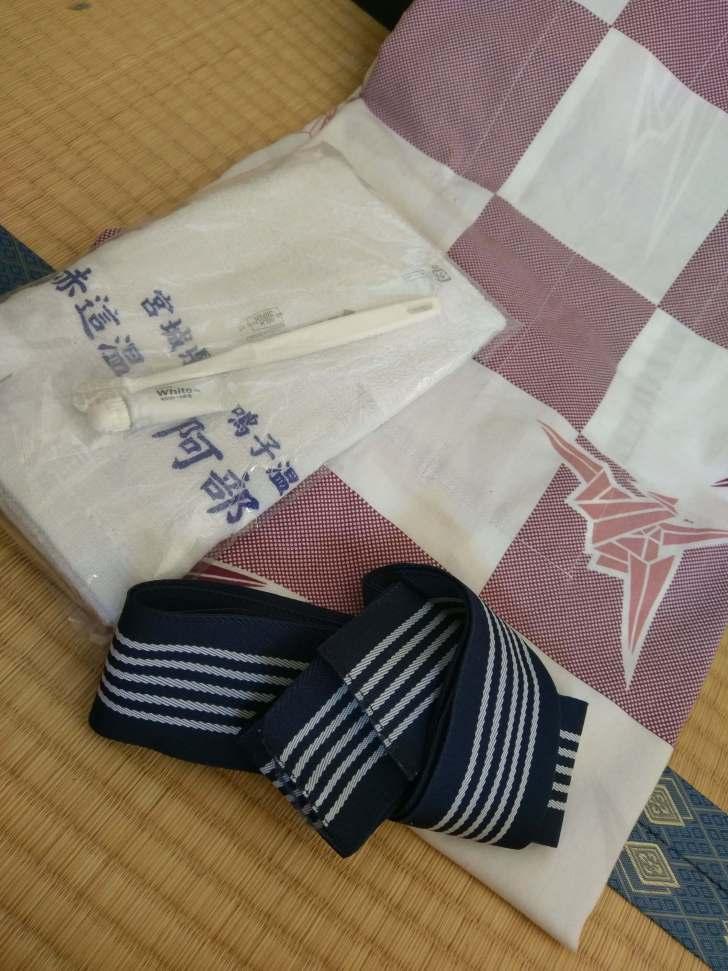 値上げに伴い最近登場した、浴衣とタオル