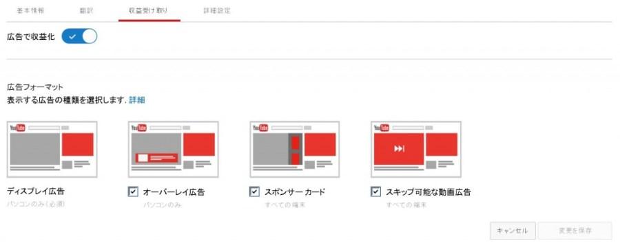 Youtube 広告の表示方法