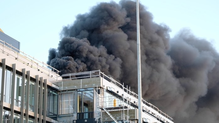 Stor brand i Aarhus Brabrand