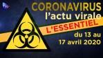 JT – Coronavirus : retour sur l'actualité du 13 au 17 avril