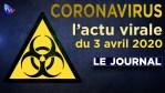 JT du vendredi 3 avril 2020 – Coronavirus : l'actualité quotidienne