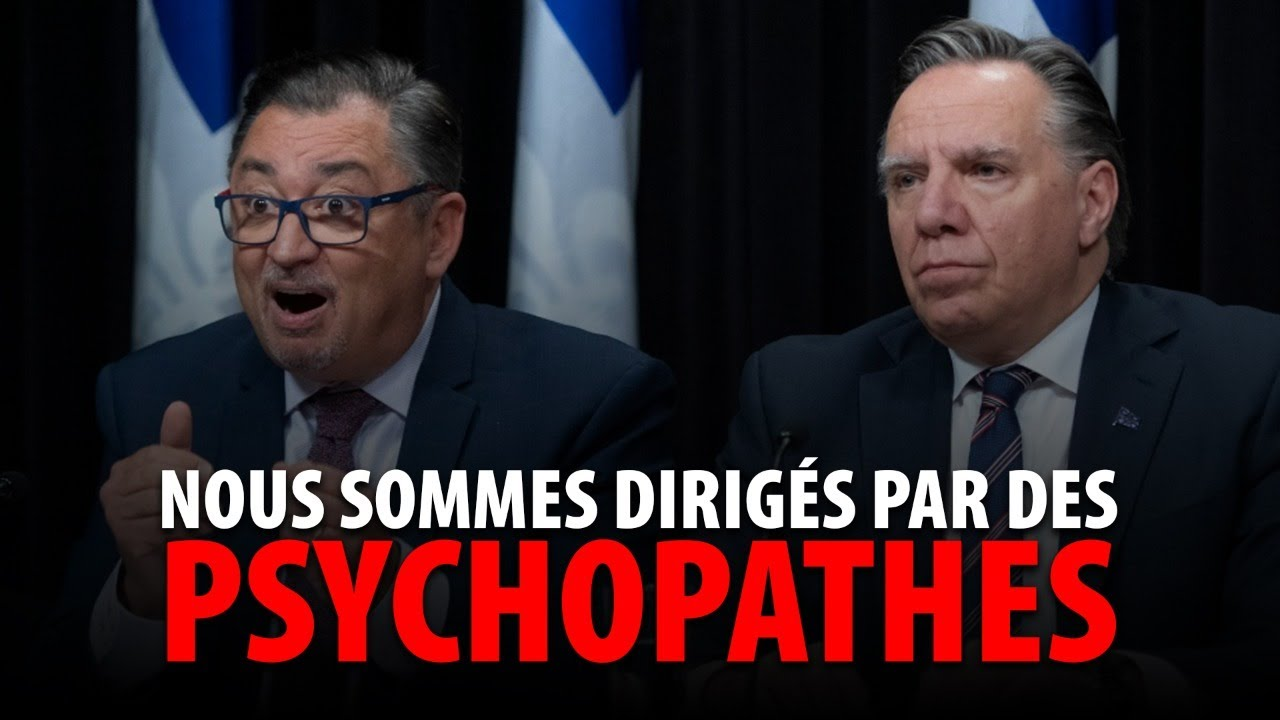 NOUS SOMMES DIRIGÉS PAR DES PSYCHOPATHES