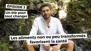 Un été pour tout changer ( épisode 4) Des aliments pas ou peu transformés favorisent la santé