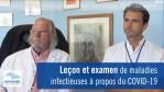 Leçon et examen de maladies infectieuses à propos du COVID-19