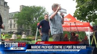 MARCHE PACIFIQUE CONTRE LE PORT DU MASQUE 23 AOÛT 2020 – DISCOURS PARTIE 1