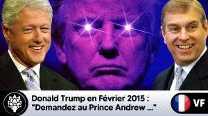 """Trump en Fév 2015 : """"Demandez au Prince Andrew…"""" #JeffreEpstein #BillClinton"""