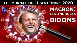 Macron contre les libertés – JT du vendredi 11 septembre 2020