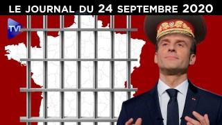 Macron met la France dans le rouge – JT du jeudi 24 septembre 2020