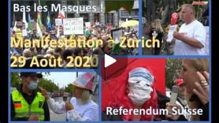 Manif du 29 août à ZURICH – pour NOS LIBERTÉS !