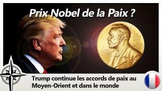 Trump nommé pour le Prix Nobel de la Paix