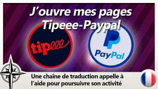 Vous pouvez désormais me soutenir sur Tipeee et Paypal !