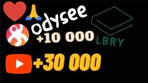 ? +30 000 sur youtube +10 000 sur Odysee/Lbry Merci à tous ! ?