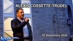 ActuQc : ALEXIS COSSETTE-TRUDEL – 30 Septembre 2020