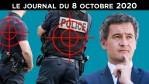 Policiers massacrés : le gouvernement face à son laxisme – JT du jeudi 8 octobre 2020