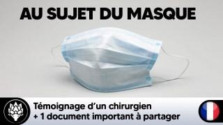 """""""Si une étude montre que le masque permet de limiter les infections, ben dites-le moi, merci !"""""""