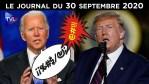 Tour de chauffe pour Donald Trump – JT du mercredi 30 septembre 2020