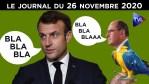 Castex, l'homme à rien faire de Macron – JT du jeudi 26 novembre 2020