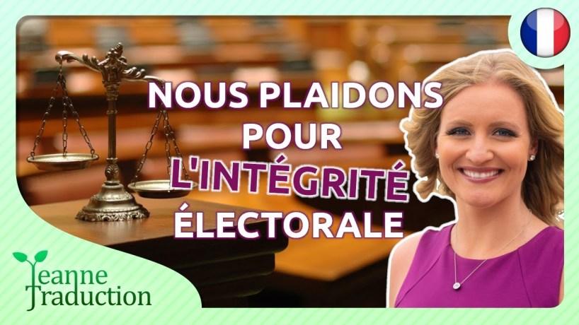 """""""Si les Etats-Unis cèdent à la corruption, aucune élection ne sera sécurisée"""""""