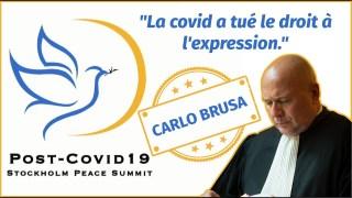 Intervention de Me. Carlo Brusa au sommet pour la paix de Stockholm