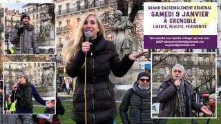 Marche pour les Libertés à Grenoble 🕊 9.01.21