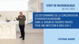 Staff de microbiologie – Stéphane Honoré