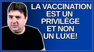 La vaccination est un privilège et non un luxe. Et c'est une responsabilité citoyenne. Dit Paré.