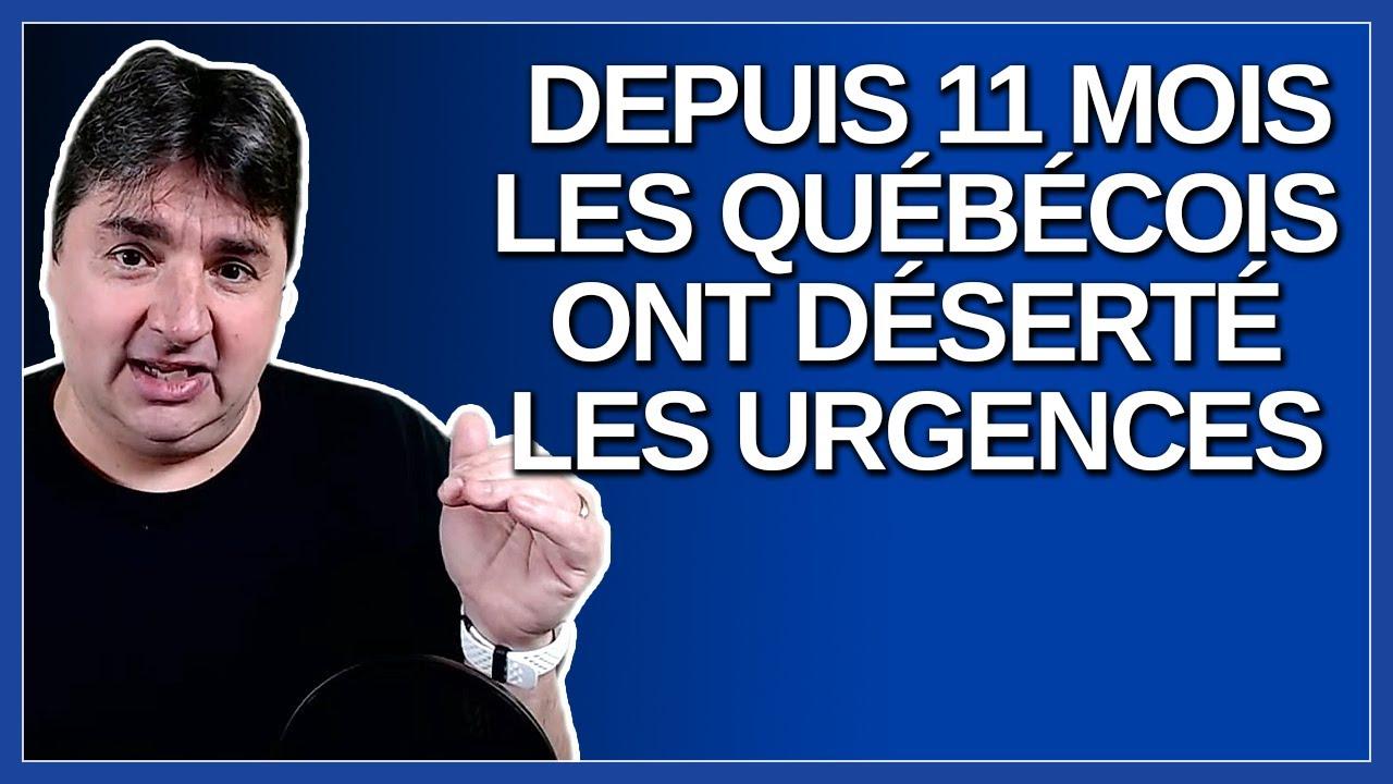 Les québécois ont désertés les urgences de mars 2020 à février 2021 montre une étude de l'INESS.