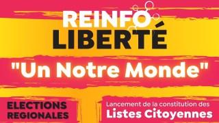 """""""Un notre monde"""" – Lancement de la constitution des Listes Citoyennes pour les élections régionales"""