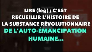 Francis Cousin : Lire ; c'est recueillir l'Histoire de la substance révolutionnaire…
