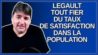 Legault a de quoi être fier de lui quand il regarde son taux de satisfaction dans la population.