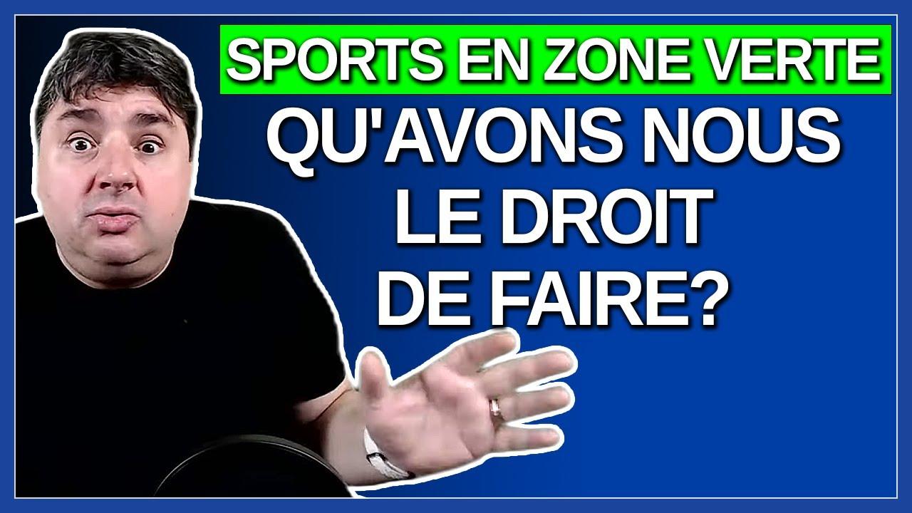 Sports intérieur et extérieur qu'avons nous le droit de faire en zone verte ?