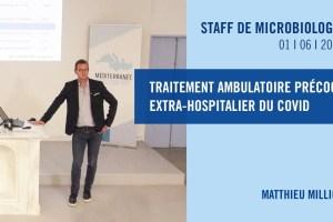 Traitement ambulatoire précoce extra-hospitalier du COVID