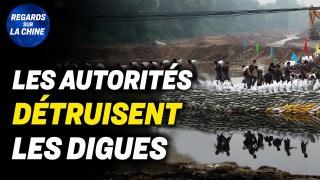 Inondations : les autorités détruisent les digues d'une rivière ; La chute de HK vers le communisme