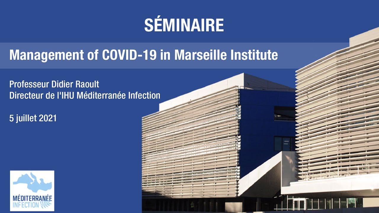 Management of COVID-19 in Marseille Institute