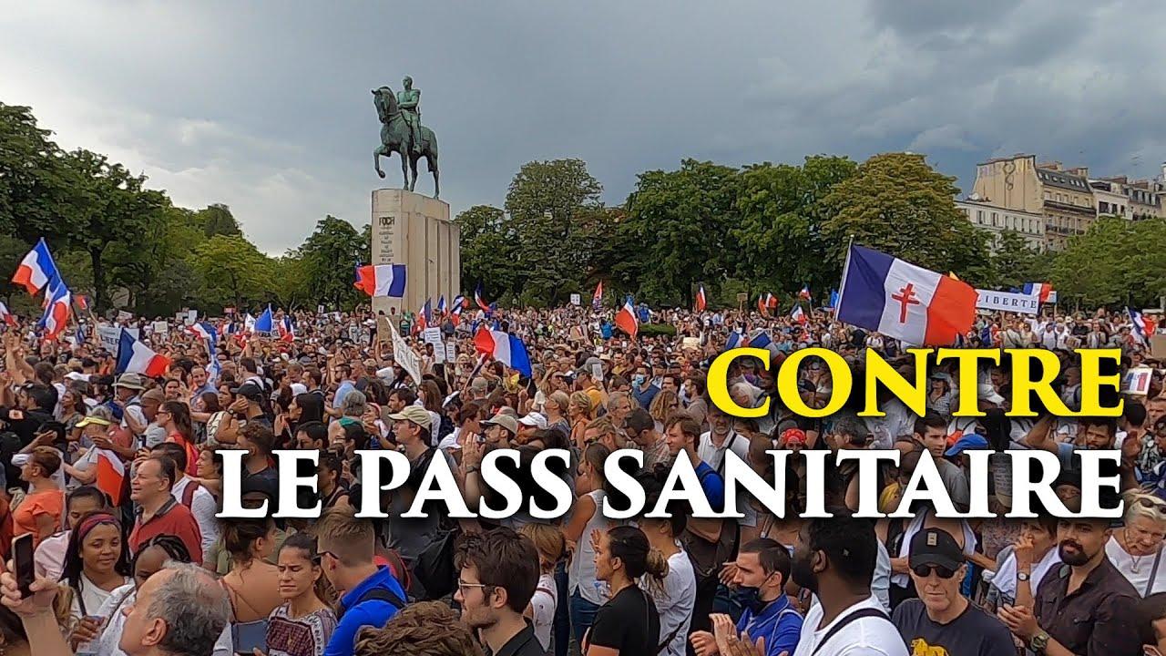 Manifestation contre le pass sanitaire à Paris, 24 juillet 2021