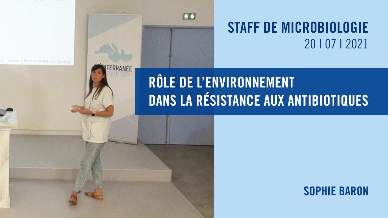Rôle de l'environnement dans la résistance aux antibiotiques