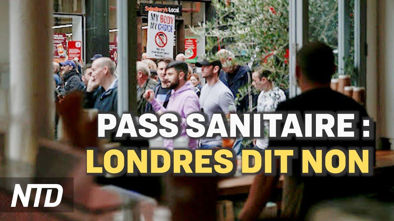 Manifestation contre le pass sanitaire à Londres ; Le PCC lance une campagne contre les célébrités