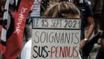 Lits fermés, postes suspendus, actions juridiques possible?   Manif de soignants à Paris