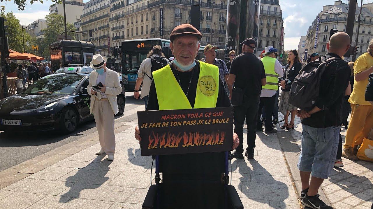 Manifestation anti-pass | Gilets Jaunes, 4 septembre à Paris