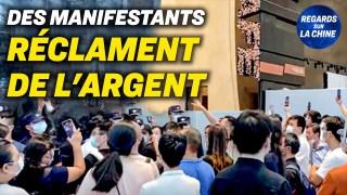 Une manifestation au siège de China Evergrande ; Un typhon se dirige vers la Chine